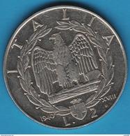 ITALIA 2 LIRES 1940 KM# 78a Victor-Emmanuel III Non Magnétique - 1900-1946 : Victor Emmanuel III & Umberto II