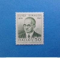 1974 ITALIA FRANCOBOLLO NUOVO STAMP NEW MNH** - LUIGI EINAUDI - - 6. 1946-.. Repubblica