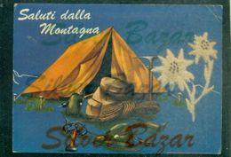 CARTOLINA  VELLUTO-CARTE VELOURS-VELVET CARD-FIORI-EDELWEISS-STELLE ALPINE - Cartoline