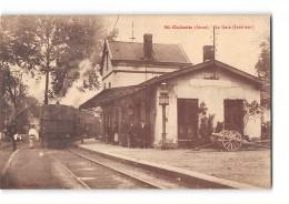 CPA 02 Saint Gobain La Gare Et Le Train Tramway Ligne De Chauny St Gobain - Other Municipalities