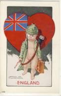 Charles Twelvetrees NATIONAL CUPID, Publ. Ullman, 1906, ENGLAND, Flag, Union Jack, Heart - Illustratoren & Fotografen