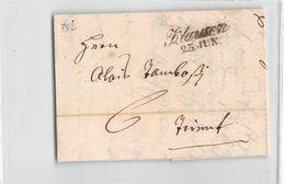 10953 AUSTRIA OSTERREICH KLAUSEN TO TRENTO - YEAR 1846 - WITH TEXT - Austria