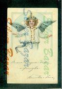 CARTOLINE CON BRILLANTINI-GLITTER POSTCARDS-CARTES POSTALES AVEC BRILANTES-ANGELI-ANGES-ANGELS - Cartoline