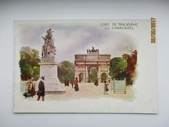 SIGNED KLEY , ARC DE TRIOMPHE  , DU CARROUSEL  ,   PARIS FRANCE ,  K0 - Monuments