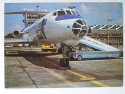 TU 134 / Warsaw  Okecie / Airport / Airport Car / Poland 1979 Year /  LOT Postcard - Aérodromes