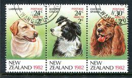 New Zealand 1982 Health - Dogs Set Used (SG 1270-1272) - Nuova Zelanda