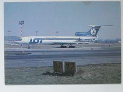 Warsaw  Okecie / Airport / TU 154M / Poland 1986 Year /  LOT Postcard - Aérodromes