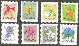 Sc. #781-87 (Range), Floral Low Value Defintives Lot Used  1979-83 K295 - 1952-.... Règne D'Elizabeth II