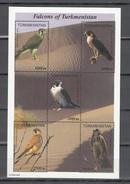 Turkmenistan 1999,5V In Block,birds Of Prey,roofvogels,greifvögel,oiseaux,pajaros,uccelli,aves,MNH/Postfris(L3162) - Arends & Roofvogels