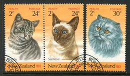 New Zealand 1983 Health - Cats Set Used (SG 1320-22) - Nuova Zelanda