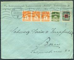 1923 Denmark Copenhagen Bakteriologisk Laboratorium 'RATIN' Cover 40 Ore Rate Inc 27ore /1 Kr Provisional - Covers & Documents