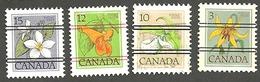 Sc. #781-87 (Range), Floral Low Value Precancel Defintives Lot Used  1979-83 K295 - 1952-.... Règne D'Elizabeth II