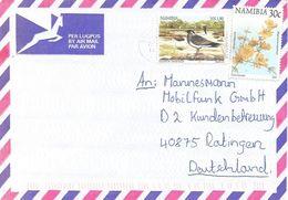 Namibia 2000 Swakopmund Swallow Flower Cover - Namibië (1990- ...)