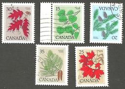 Sc. #717-21 Tree Defintives, Medium Value Lot Used  1977-82 K310 - 1952-.... Règne D'Elizabeth II