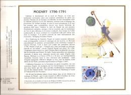 FRANCE CEF  1ER JOUR - MOZAR 1756-1791 - 9 AVRIL 1981 - 1980-1989