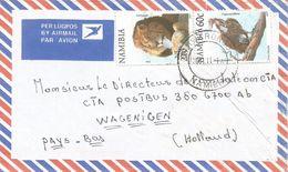 Namibia 2001 Otjiwarongo 4 Vulture Lion Cover - Namibië (1990- ...)