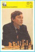 ANATOLY KARPOV Russia Chess Grandmaster (Yugoslavia Vintage Card Svijet Sporta) Echecs Ajedrez Schach Scacchi Check Shah - Sports