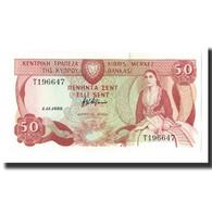 Chypre, 50 Cents, 1989-11-01, KM:52, NEUF - Chypre