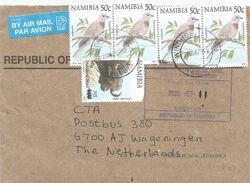 Namibia 2005 Windhoek Pigeon Buffalo Overprint Michel 1175 Official Cover - Namibië (1990- ...)