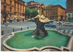 ROMA PIAZZA DI SPAGNA FONTANA TRITONE 1972 - Piazze