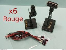 6 MINI AMPOULES AMPOULE ROUGE 3mm 12V Grain De Blé Eclairage Feux Signal Sémaphore  Neuf 1/43 HO 1/87 - Alimentazione & Accessori Elettrici