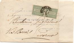 MILANO Per LIVORNO - 1.8.1874 - Piego COMPLETO Di CONTENUTO A Stampa COPPIA 1c. VEII 1/190 - 1861-78 Vittorio Emanuele II