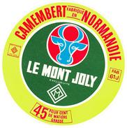 ETIQUETTE  DE  CAMEMBERT MONT JOLY/MONOPRIX FAB. PAR ATHIS 61 J - Fromage