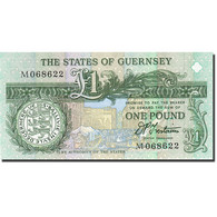 Guernsey, 1 Pound, 1990-1991, Undated (1991), KM:52b, NEUF - Guernesey