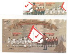 INDONESIA 2012 100TH INDONESIAN SCOUT SET SS SOUVENIR SHEET & STAMPS MN - Indonésie