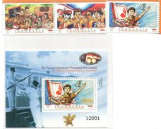 INDONESIA 2011 50 YEARS OF INDONESIAN SCOUT SET SS SOUVENIR SHEET & STAMPS MNH - Indonésie