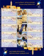 Israel - 2010 - Jerusalem Stamp Exhibition 2010 - Mint Self-adhesive ATM Stamp Sheet - Franking Labels