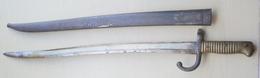 Sabre Baïonnette Français Modèle 1866 Chassepot Au Même Numéro. - Knives/Swords