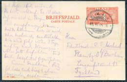 1934 Iceland 20 Aur National Museum Brjefspjald Stationery Postcard. Reykjavik - Germany - 1918-1944 Administration Autonome