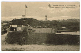 Knocke  Batterie Wilhelm  II    Entree De La Batterie  Et Vue Sur La Premiere Piece - Knokke