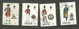 Gibraltar N°224, 232, 233, 235 Cote 4.55 Euros - Gibraltar