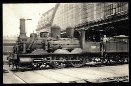 CPA ANCIENNE FRANCE-  LOCOMOTIVE A VAPEUR-  EX-MIDI- N° 826 DEVENUE 030-104- 1867-69- TRES GROS PLAN DE PROFIL- 2 SCANS - Trains