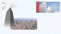 Israel 2008 Tel Aviv City Towers FRAMA FDC Cover - Frankeervignetten (Frama)