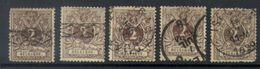 A14 - Belgium - 1888 - OBP 44 - Used Lot - 1869-1888 Lion Couché (Liegender Löwe)
