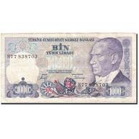 Turquie, 1000 Lira, 1984-1997, KM:196, 1986, TTB - Turchia