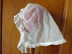 Coiffe Ancienne Femme Pour Reconstitution Cinema Theatre-tulle Et Dentelle - Headdresses, Hats, Caps