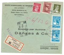Turquie // Devant De Lettre Recommandée Pour La Suisse - 1921-... République