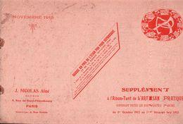 LE SUPPLÉMENT De L'Album De L'ARTISAN PRATIQUE , OCTOBRE 1912. DÉCEMBRE 1913 - Travaux Publics