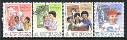 New Zealand 1994 Health - 75th Anniversary Of Health Camps Set Used (SG 1813-16) - New Zealand