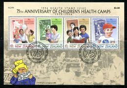 New Zealand 1994 Health - 75th Anniversary Of Health Camps MS Used (SG MS1817) - New Zealand