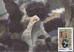 25457. Tarjeta Maxima R.S.A.  South Africa, Graskop 1986. Bourkes Luck - África Del Sur (1961-...)