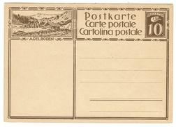 Suisse // Schweiz // Switzerland // Entiers Postaux // Entier Postal Neuf, Avec Image De Adelboden - Stamped Stationery