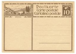 Suisse // Schweiz // Switzerland // Entiers Postaux // Entier Postal Neuf, Avec Image De Davos - Stamped Stationery