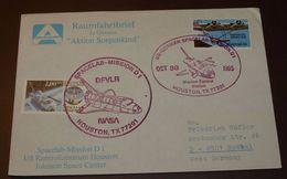 Cover Brief Space, Weltraum  Space Shuttle Spacelab  1985   #cover3713 - Brieven & Documenten