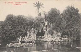 CPA - Espagne - CADIZ - Parque Genovés La Cascada - écrite - Cádiz