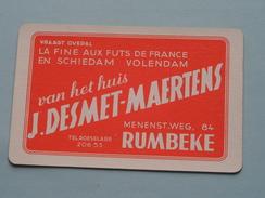 Het Huis J. DESMET - MAERTENS RUMBEKE / HARTEN 7 ( Zie Foto´s Voor En Achter ) ! - Playing Cards (classic)